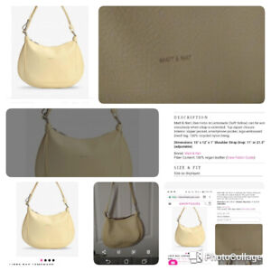 Matt & Nat Libre Hobo bag In lemonade