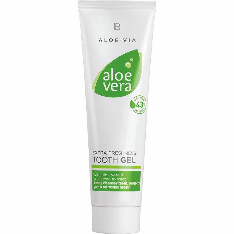LR Aloe Vera Extra Frische Zahngel Zahnpasta gegen Zahnfleischbluten 43% Aloe Ve