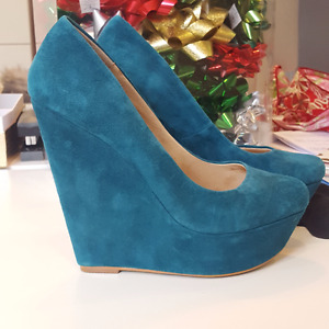 ALDO Blue Wedge Pumps