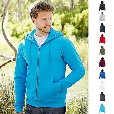 Fruit of the loom Herren Kapuzenjacke Sweat Jacke Sweatjacke Jacke Kapuze 80/20 ()