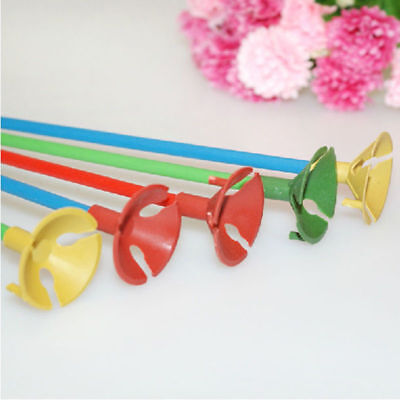 10sets 32CM Highquality Balloon Accessories Balloon Holder Sticks with Cups (Balloon Holder Sticks)