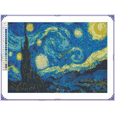 5D Diamond Painting Full Kits Starry Night Pictures Arts Cro
