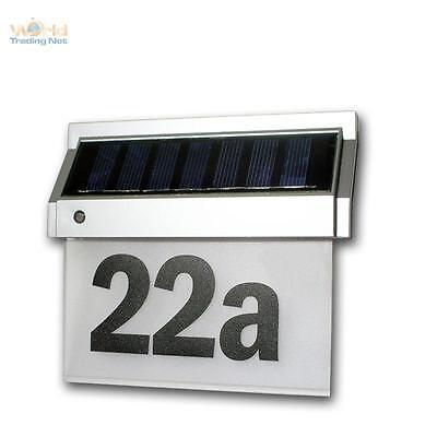 Solar Número de Casa Con 2 Leds Luz de Número de Casa...