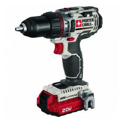 Porter-cable 20v Max Li-ion 12 Drill Driver Kit Pcc606la New