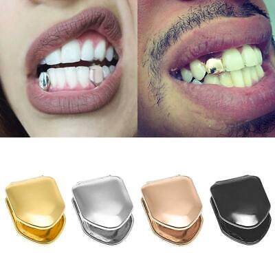 Teeth Caps Small Single Top Bottom Gold Plated Hip Hop Grill False Tooth Tools Fake Gold Tooth Teeth