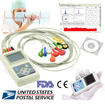Fda Ce 12 Channel Ecg Holter 24 Hours Ekg Monitoranalyzersoftwaretlc5000