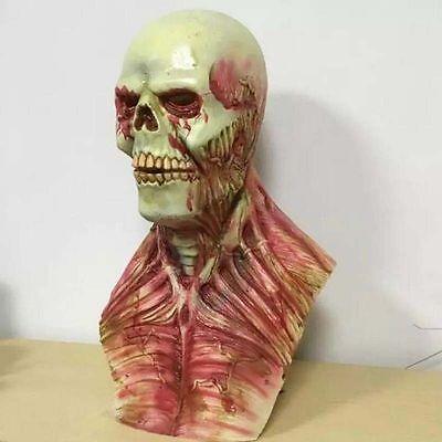 Monster Alien Scary Devil Zombie Mask Halloween Cosplay Latex Full Face Hood