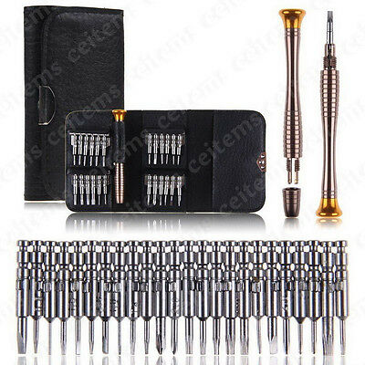 25 in 1 Screwdriver Set Opening Repair Tools Kit for iPhone 6s Cell Phone Watch