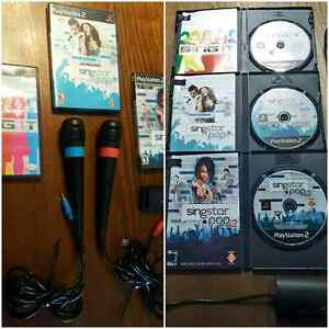 PLAYSTATION 2 and 3 SINGSTAR PACKAGE  / ENSEMBLE  West Island Greater Montréal image 1