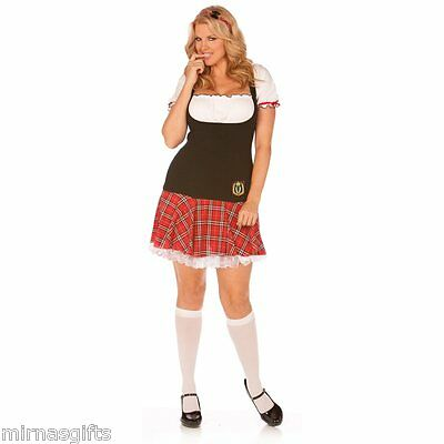 3x Costume (3 PC FRISKY FRESHMEN SCHOOL GIRL LINGERI COSTUME PLUS SIZE 1X/2X )