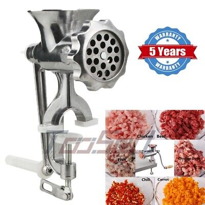 Aluminum Heavy Duty Manual Meat Grinder Clamp-on Hand Grinder With Blade