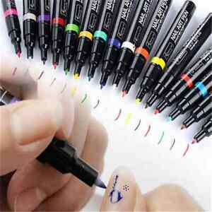 Fashion Nail Art Pen Painting Design Tool Drawing For UV Gel Polish Manicure FT