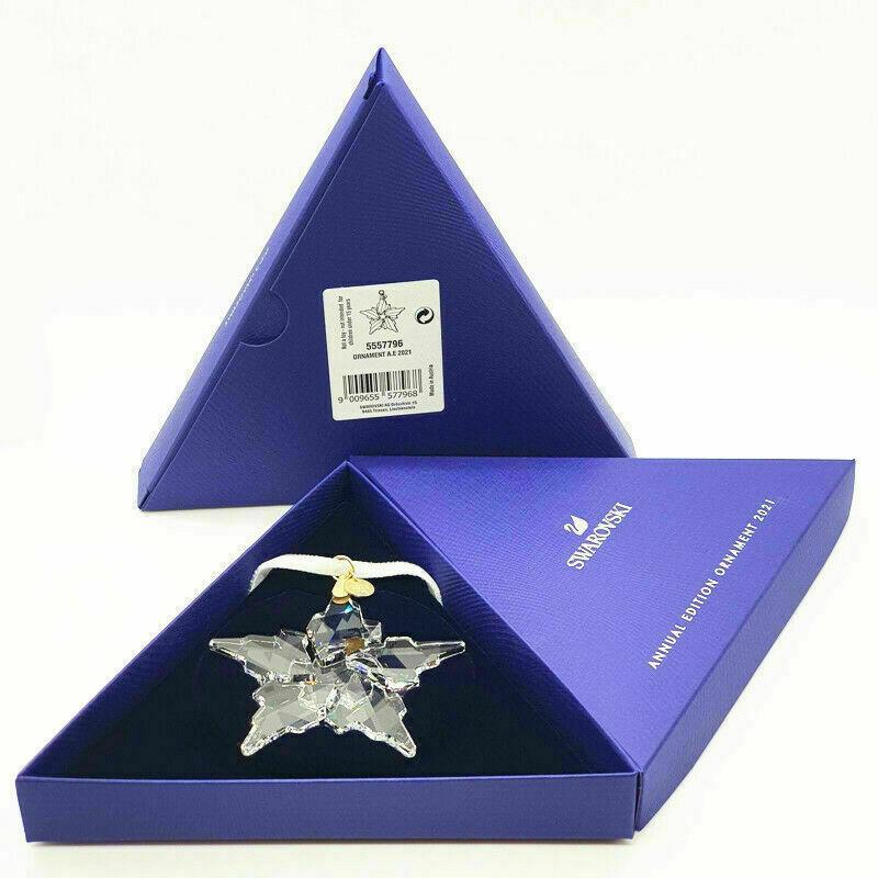 2021 Swarovski Crystal Annual Edition Large Snowflake Christmas Ornament 5557796