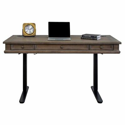 carson complete sit stand desk weathered dove