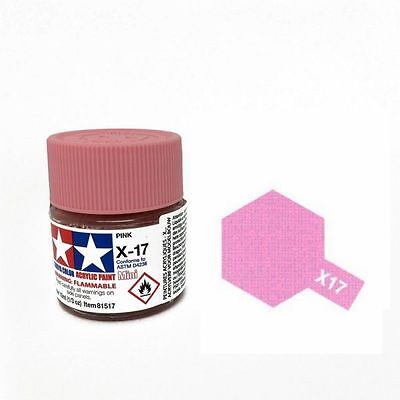 TAMIYA X17 COLORE ACRILICO LUCIDO ROSA PINK 10 ML ART 81517