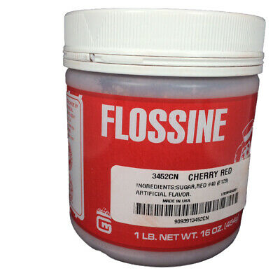 Gold Medal Cotton Candy Flossine 1 Pound Jar Cherry