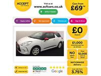 Citroen DS3 1.6e-HDi ( 90bhp ) Airdream DStyle Red FROM £36 PER WEEK!