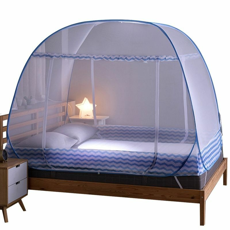 Bed Mosquito Net Automatic Pop Up Foldable Netting Tent Brea