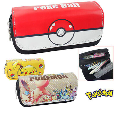 PIKACHU POKEMON  Makeup Cosmetic Brush Travel Bag Case Pen Pencil Pouch - Pikachu Makeup