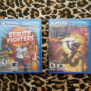 2 PS Vita games - Reality Fighters & Sly Cooper