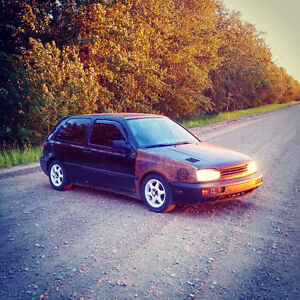 **AWESOME LIL LOWERD VW GOLF FOR SALE OR TRADE***