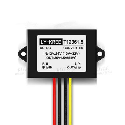 New Voltage Booster Power Dc Converter Regulator 12v24v Step Up To 36v 1.5a 54w