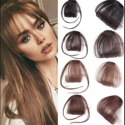 Hot Women Girls Thin Air Bangs Remy Human Hair Clip Fringe Front Hairpiece Wigs (Hair Clip Wigs)