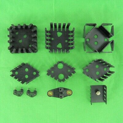 10 Assorted Regulator Transistor Aluminum Heat Sinks & Socke