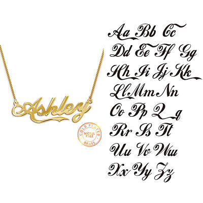 Personalized Name Pendants Necklaces Artistic Font Necklace Best Gifts for