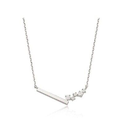 [STONE HENGE] Silver 925 Unbalanced Necklace K0945 with Case K-beauty