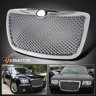 2005-2010 Chrysler 300 300C Chrome Front Hood Bumper Mesh Grill Grille