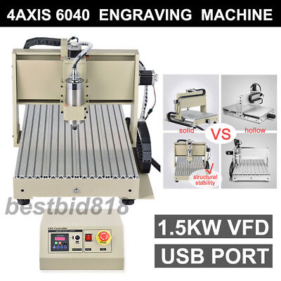1500w Usb 4axis 6040 Cnc Router Engraver Engraving Mill Drillmach3 Controller