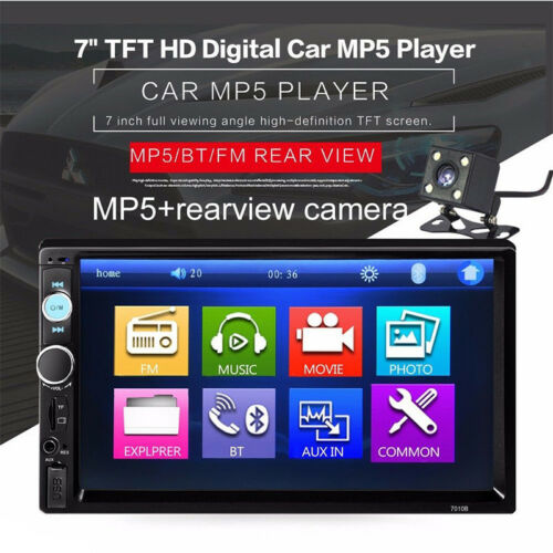 $58.89 - Car Stereo Radio Bluetooth Audio Receiver Double Din 7