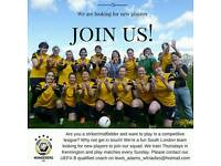 WANTED: Female/ladies football players 11-a-side