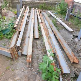 Reclaimed Steel I-Beam Girders