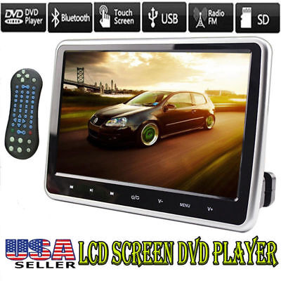"10.1"" LCD Screen Car Headrest TV Monitor DVD/USB/SD/HDMI Player IR/FM/Speaker"