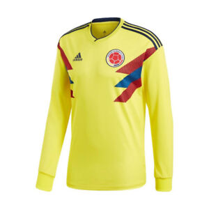Colombia Home 2018 Official Jersey Long Sleeve On Sale 6fb19a607