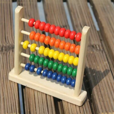 Educational Toy Mini Wooden Abacus Children Early Math Learning Numbers Counting