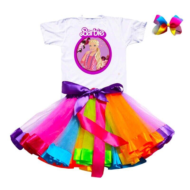 Barbie Tutu Set 5t Dress Free Headbow