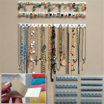Adhesive Jewelry Display Hanging Earring Necklace Holder Packaging organizer NEW