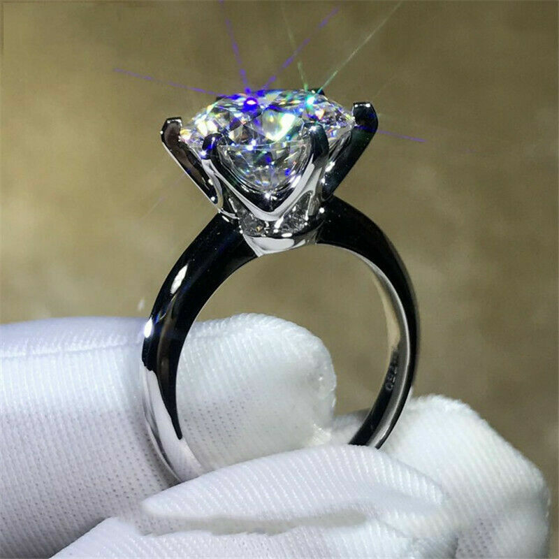 3.00Ct Brilliant Cut Moissanite Solitaire Engagement Ring So