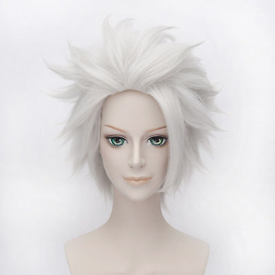 Ursula Wig Rick Morty Rick Sanchez Short Layered Silver Straight Cosplay Hair ](Ursula Wigs)