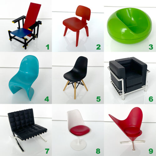 Rare Reac Japan Miniature 1/12 Scale Designer Chairs Vol.1 - Used
