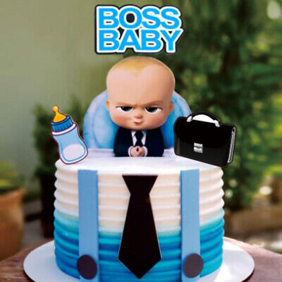 7pcs Boss Cake Topper Baby alles Gute zum Geburtstag Cupcake Flagge