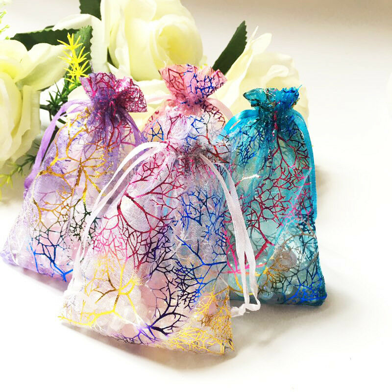 3x5 4x6 5x7 inch Coralline Organza Wedding Party Favor Gift