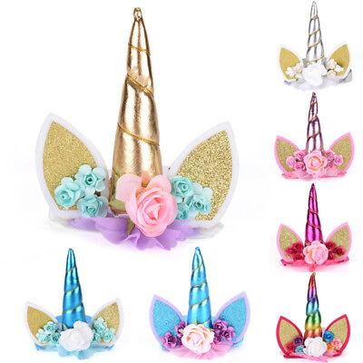 Glitter Unicorn Horn Headband Kids Unicorn Party Hair Accessories Decorative Qw
