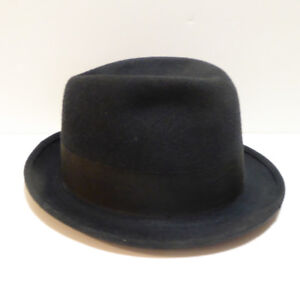 MEN'S VINTAGE 1940/50s STETSON FEDORA HAT WITH HAT BOX/MINT
