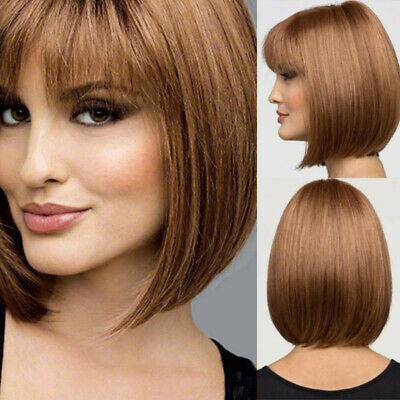 Frauen Kurze Gerade Bob Volle Perücken Natürliche Blonde - Natürliche Blonde Perücke