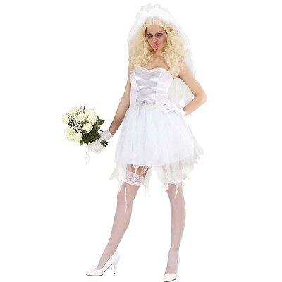 ZOMBIE BRAUT 42/44  (L) Damen Kostüm Geisterbraut Halloween Untote Kleid 243