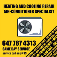 Same day air conditioner repair 49$ service call
